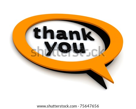 speech bubbles thank you - stock photo
