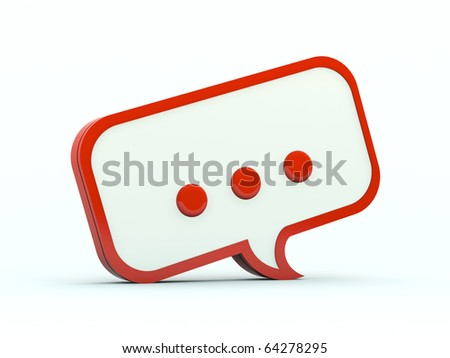 Speech icon. Red series - stock photo