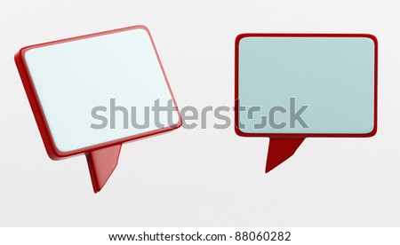 Speech or chat icon 3d - stock photo