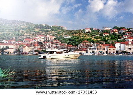Speed boat in Croatia