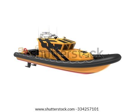 Speed boat isolated - stock photo