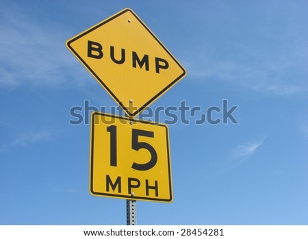 Speed Bump Sign - stock photo