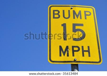 speed bump sign - stock photo