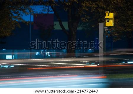 Speed camera - stock photo