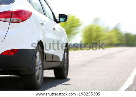 Speed. Car driving on road