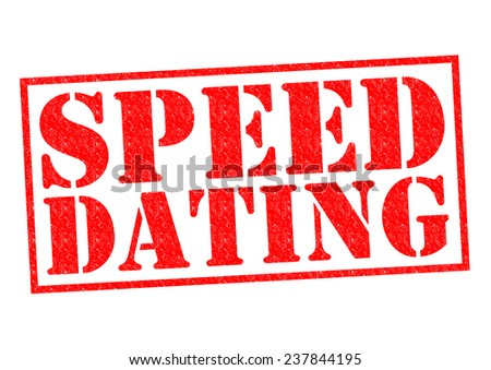 SPEED DATING red Rubber Stamp over a white background. - stock photo