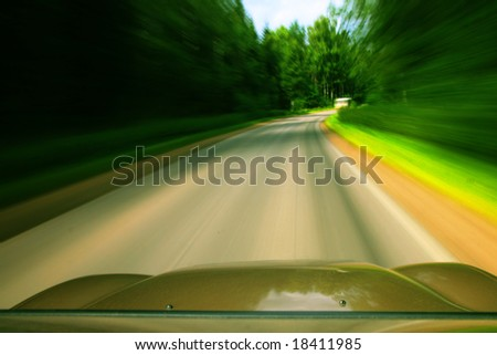 speed drive - stock photo