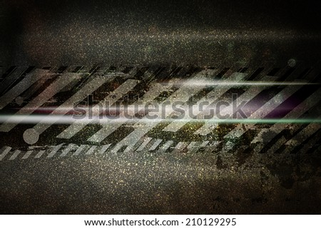 speed extreme racing on street, background illustration - stock photo