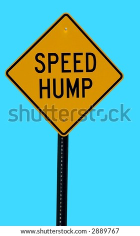 Speed Hump Sign - stock photo