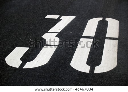 Speed limit sign. - stock photo