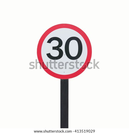 Speed Limits 30 kilometers per hour on a white background.