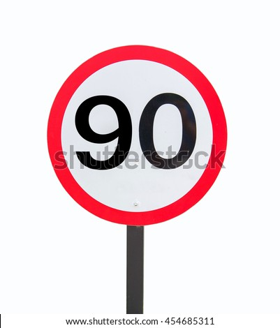 Speed Limits 90 kilometers per hour on a white background.