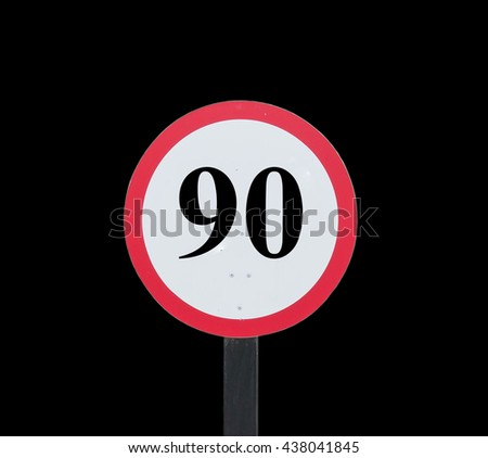 Speed Limits 90 kilometers per hour on background.
