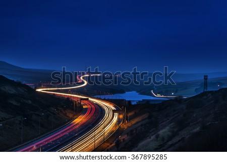 Speed - M62 Motorway - stock photo