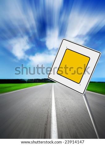 speed main road daytime - stock photo