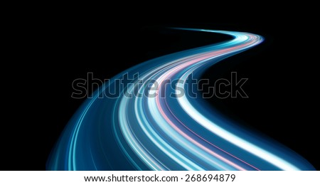 Speed motion at night  - stock photo