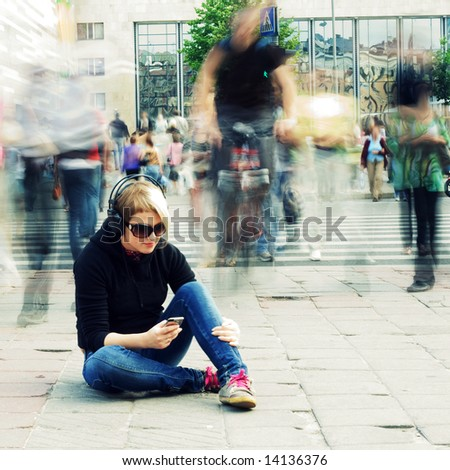 Speed of life. - stock photo