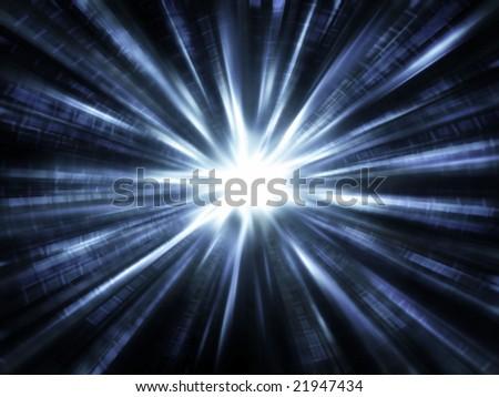 Speed of Light - stock photo
