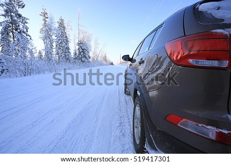 speed of movement of the winter road