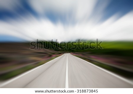 Speed on the road concept - stock photo