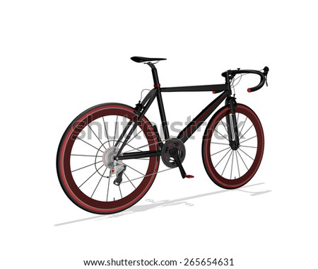 Speed Racing Bicycle Isolated on White Background - stock photo