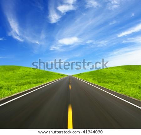 Speed Road - stock photo