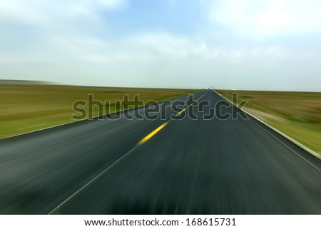 Speed �¢??�¢??road leading from afar