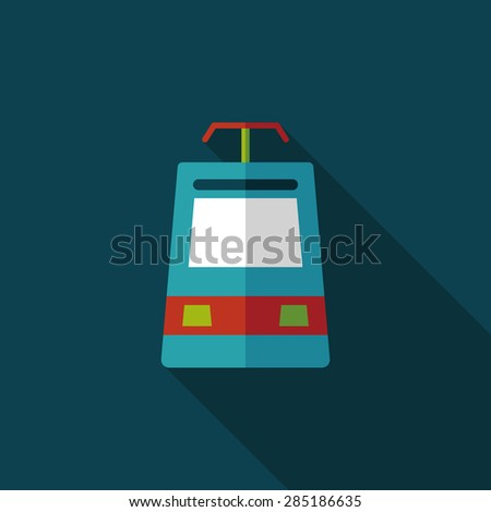 speed train flat icon with long shadow - stock photo