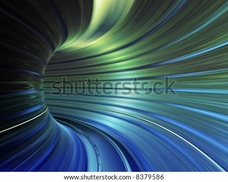 speed tunnel - stock photo