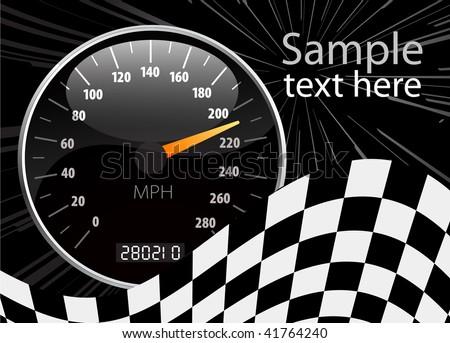 Speedometer illustration - stock photo