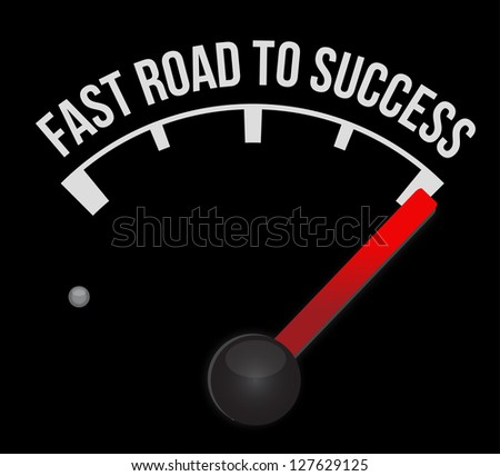 Speedometer scoring fast road to success illustration design - stock photo