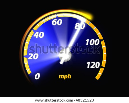 Speedometer test, 3D illustration - stock photo