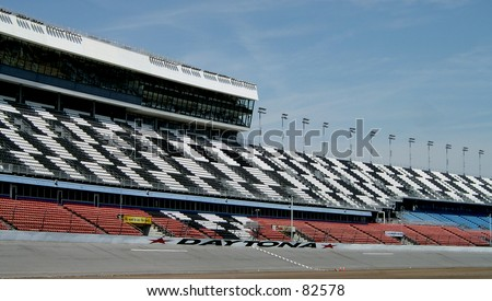 Speedway Grandstands - stock photo