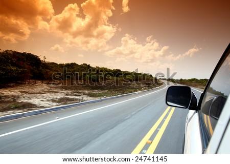 speedy day drive - stock photo