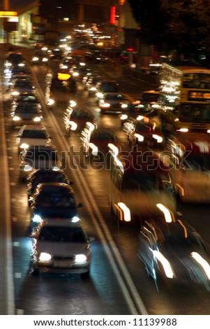 Speedy traffic - stock photo