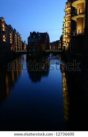 Speicherstadt in Hamburg - stock photo