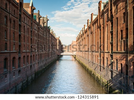Speicherstadt, part of Hafen City, Hamburg/Germany.