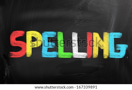 Spelling Concept - stock photo