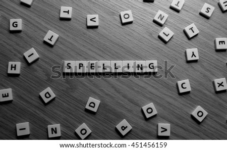 Spelling letters - stock photo