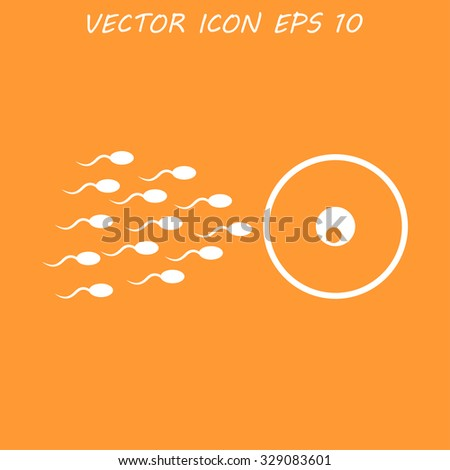 Sperm and egg cells thin line icon for web and mobile minimalistic flat design.  - stock photo