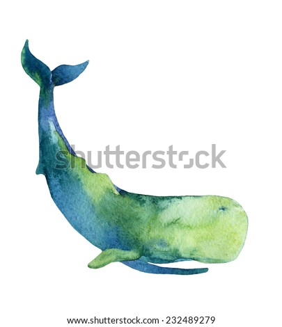 Sperm Whale. Hand drawn illustration - stock photo