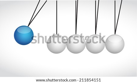 sphere balls hitting each other illustration design over a white background