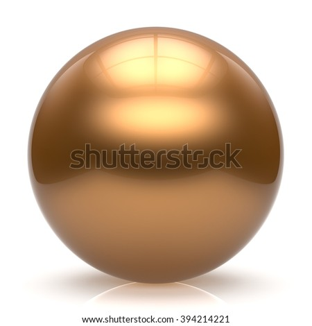 Sphere button ball gold round basic circle geometric shape solid figure simple minimalistic element single shiny glossy sparkling object blank balloon atom icon yellow golden. 3d render isolated - stock photo