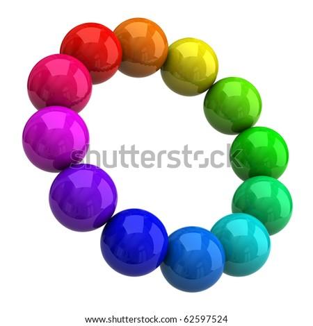 Sphere color wheel - stock photo