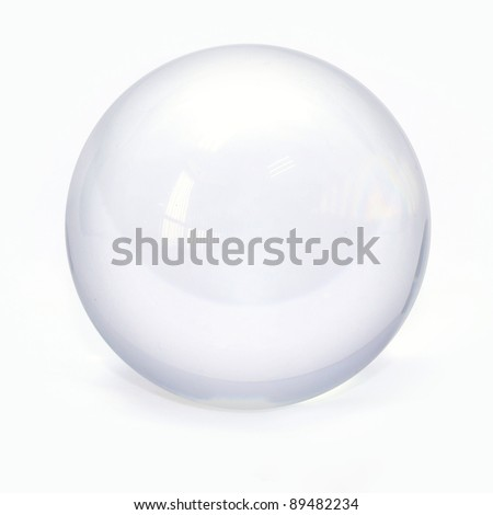 sphere glass ball - stock photo