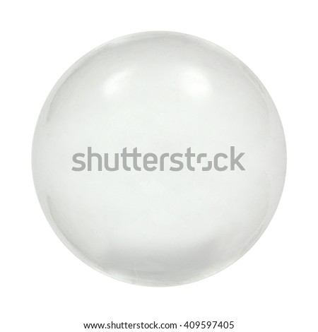 Sphere glass ball, isolated on white background, with clipping path - stock photo