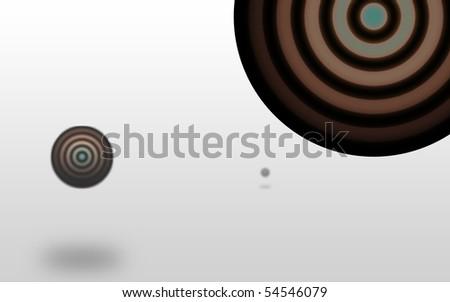 Sphere illusion - stock photo