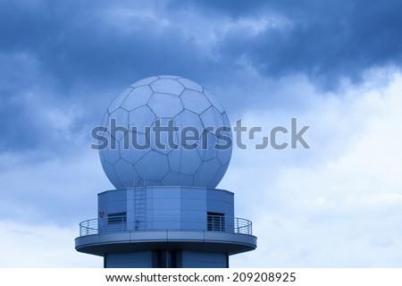 Sphere Radar Of Airport - stock photo