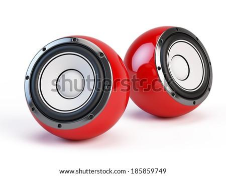 Sphere speakers - stock photo