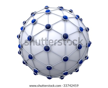 sphere surrounded with some net - stock photo